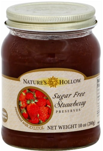 Nature's Hollow Sugar Free Strawberry Preserves Perspective: front