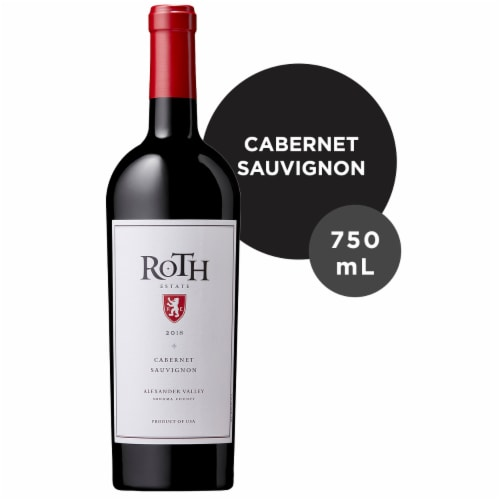 Roth Estate Alexander Valley Cabernet Sauvignon Red Wine Perspective: front