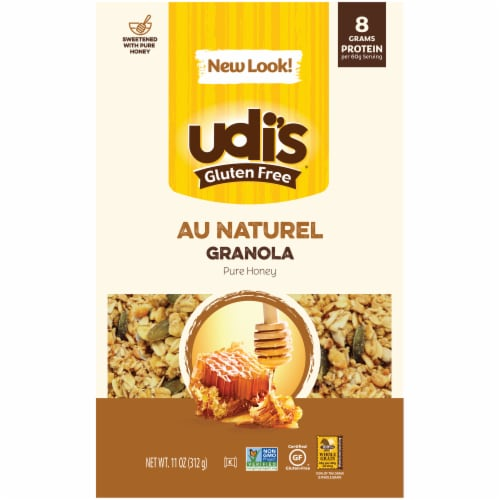 Udi's Gluten Free Pure & Simple Au Natural Granola Perspective: front