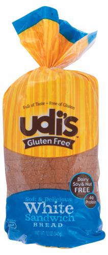 Udi's Gluten Free White Sandwich Bread Perspective: front