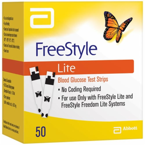 FreeStyle Lite Blood Glucose Test Strips Perspective: front
