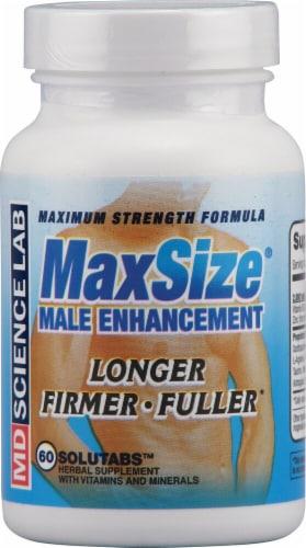 M.D. Science Lab Maximum Strength MaxSize® Male Enhancement Tablets Perspective: front
