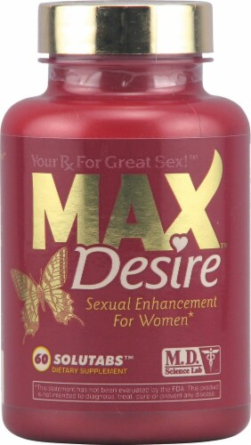 M.D. Science Lab MaxDesire™ Sexual Enhancement for Women Tablets Perspective: front