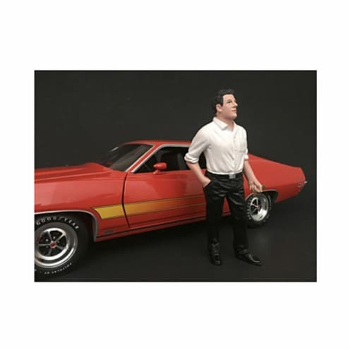 American Diorama 77503 70s Style Figure III for 1 isto 24 Model Car Perspective: front
