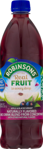 Robinsons Apple & Blackcurrant Fruit Drink Perspective: front