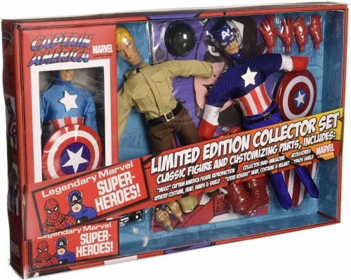 Marvel Captain America 8 Inch Retro Action Figure Set Perspective: front