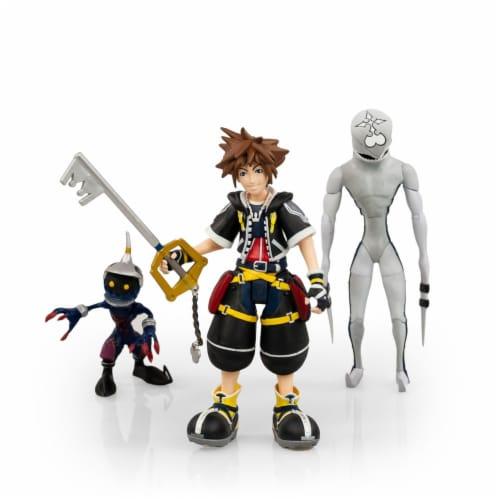 Kingdom Hearts 2 Action Figures Collection Set | Includes Sora, Dusk, & Soldier Perspective: front