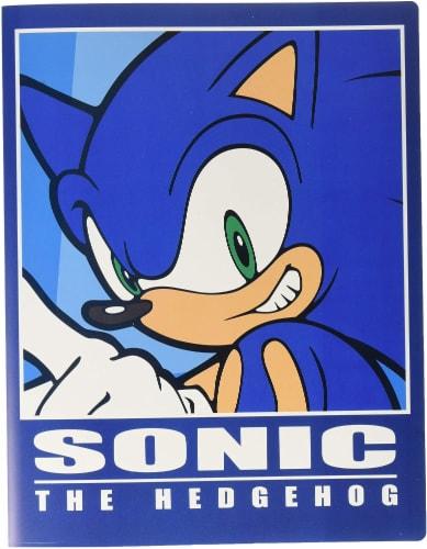 Sonic The Hedgehog Pocket File Folder Goodies Perspective: front