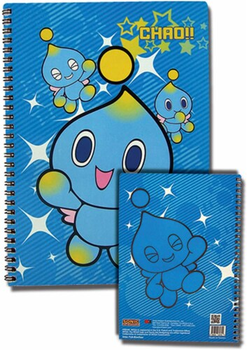 """Great Eastern Entertainment Sonic The Hedgehog Chao Spiral Notebook Multi-colored, 10"""" Perspective: front"""