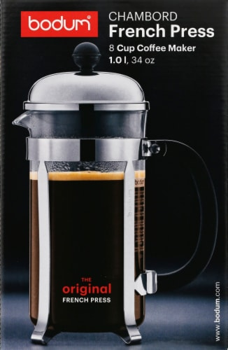 Bodum Chambord French Coffee Press - Chrome Perspective: front