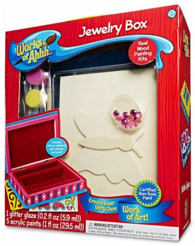 Masterpieces Works of Ahhh Jewelry Box Craft Kit Perspective: front
