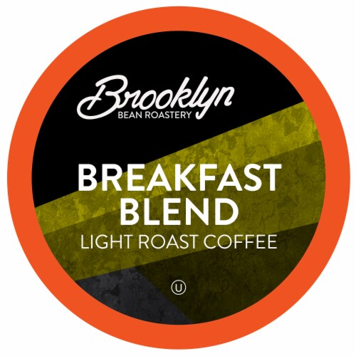 Brooklyn Beans Light Roast Coffee Pods, Breakfast Blend, Four- 24 count boxes Perspective: front