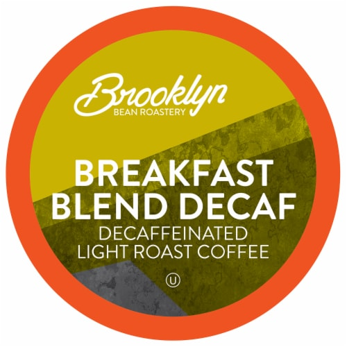 Brooklyn Beans Light Roast DECAF Coffee Pods,  Breakfast Blend ,Four- 24 Count Boxes Perspective: front