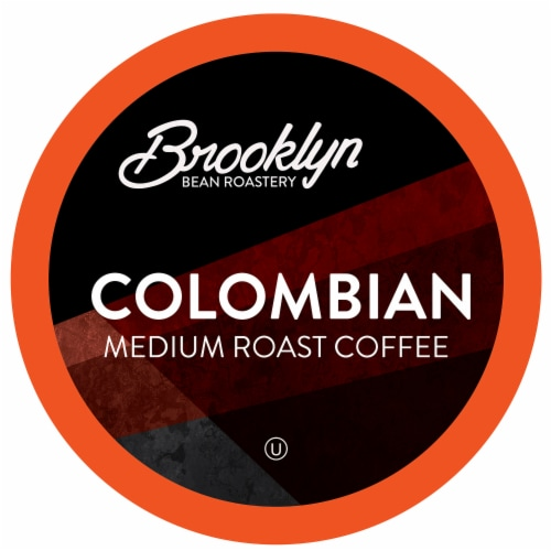 Brooklyn Beans Medium Roast Coffee Pods for Keurig 2.0, Colombian, Four-24 Count Boxes Perspective: front