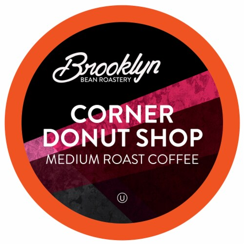 Brooklyn Beans Coffee Pods for Keurig 2.0, Corner Donut Shop, Four-24 Count Boxes Perspective: front