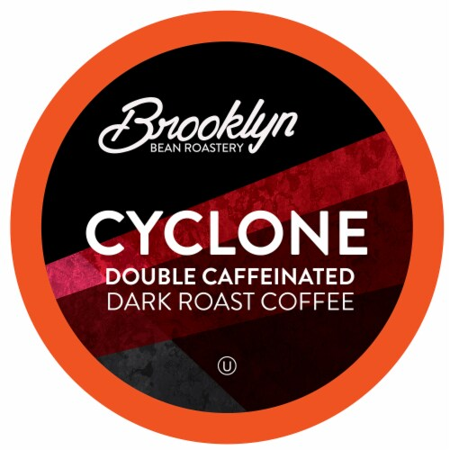 Brooklyn Beans Dark Roast X Strong Coffee Pods, Cyclone Double Caffeinated,96 Count Perspective: front
