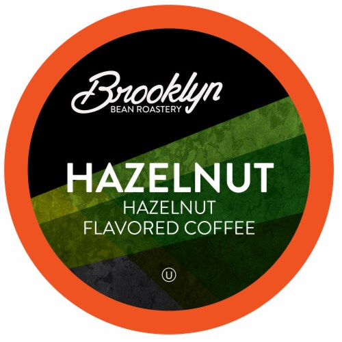 Brooklyn Beans Flavored Coffee Pods, for Keurig 2.0, Hazelnut, Four-24 Count Boxes Perspective: front