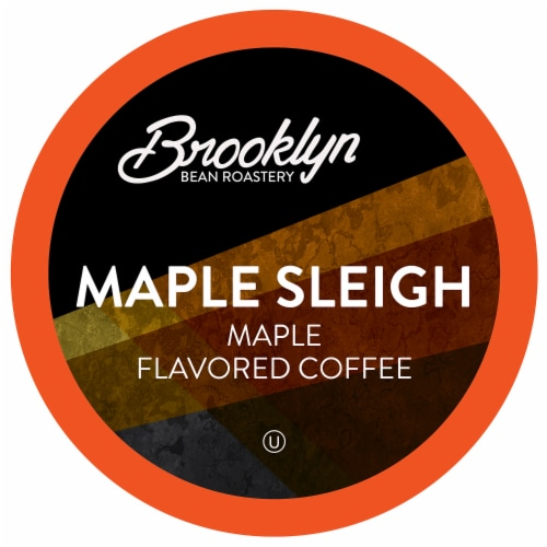 Brooklyn Beans Maple Flavored Coffee Pods for Keurig 2.0, Maple Sleigh, Four-24 Count Boxes Perspective: front