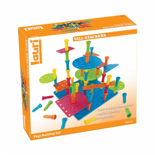Lauri® Tall-Stackers Pegs Building Set Perspective: front