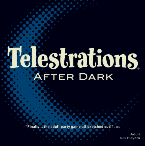 USAopoly Telestrations® After Dark® Party Game Perspective: front
