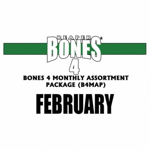 Reaper Miniatures REM97427 Bones Black 4 MAP February 2020 Miniatures & Miniature Games Perspective: front