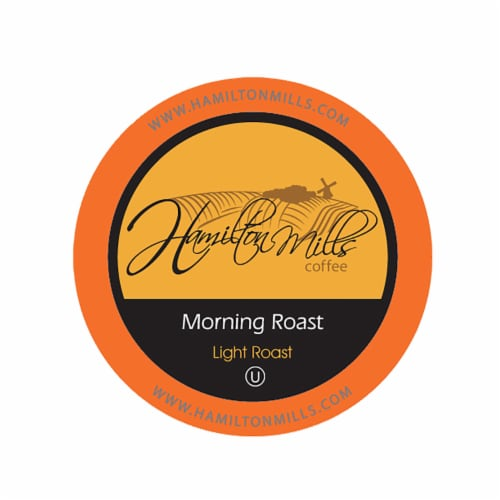 Hamilton Mills Morning Roast Coffee Pods, 2.0 Keurig K-Cup Brewer Compatible, 40 Count Perspective: front