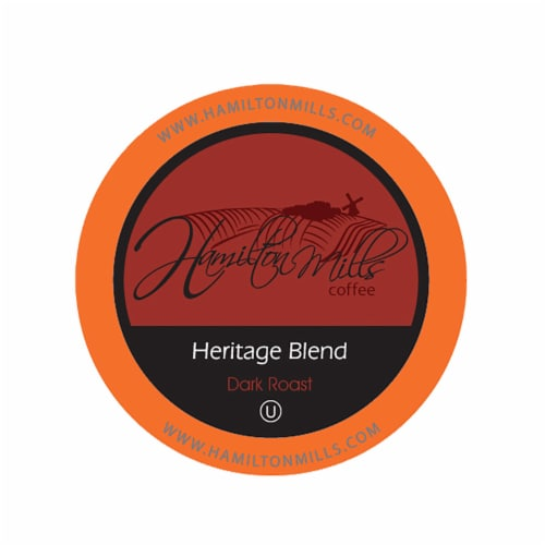 Hamilton Mills Heritage Blend Coffee Pods, 2.0 Keurig K-Cup Brewer Compatible, 40 Count Perspective: front