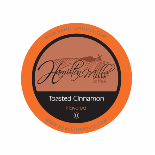 Hamilton Mills Toasted Cinnamon Coffee Pods, 2.0 Keurig K-Cup Brewer Compatible, 40 Count Perspective: front