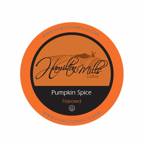 Hamilton Mills Pumpkin Spice Coffee Pods, 2.0 Keurig K-Cup Brewer Compatible, 40 Count Perspective: front