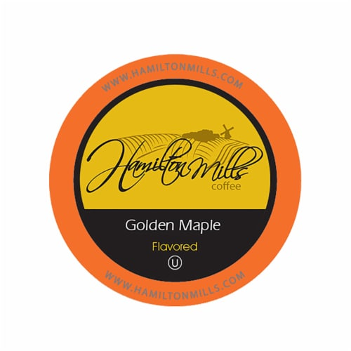 Hamilton Mills Golden Maple Coffee Pods, 2.0 Keurig K-Cup Brewer Compatible, 40 Count Perspective: front