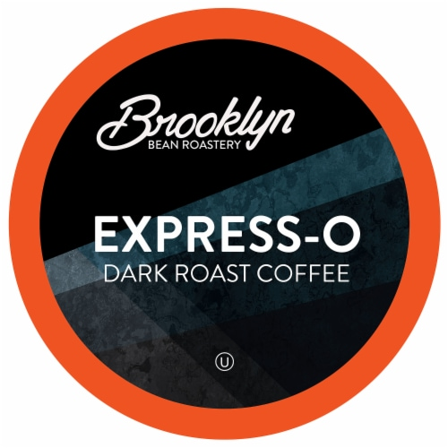 Brooklyn Beans Dark Roast Coffee Pods, for Keurig 2.0, Express-O, Four-24 Count Boxes Perspective: front