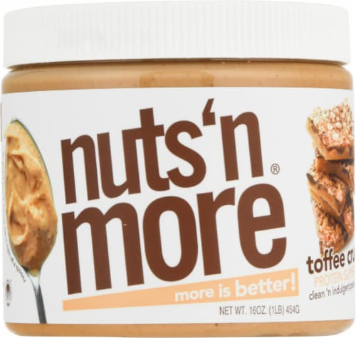 Nuts N More  High Protein Peanut Spread   Toffee Crunch Perspective: front