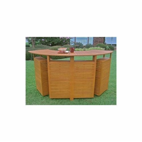 International Caravan TT-BR-001 Royal Tahiti Outdoor Wood Fold Out Bar Perspective: front