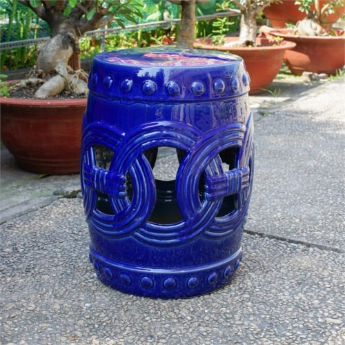 Fresca Feng Shui Ceramic Garden Stool Perspective: front