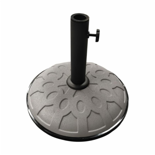 25-Pound Resin Compound Umbrella Base - Grey Perspective: front