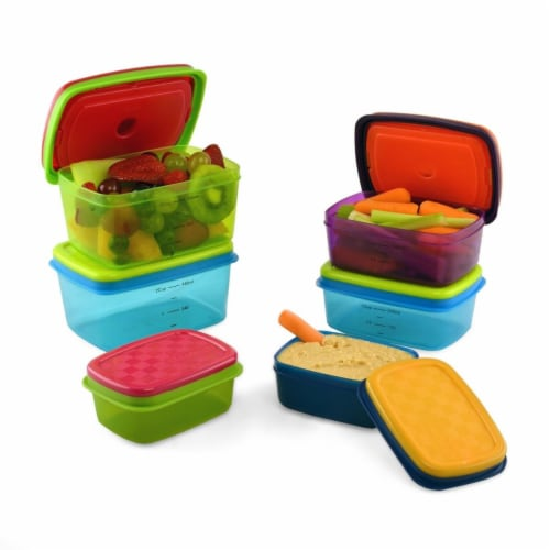 Medport Fit & Fresh Kids Value Lunch Container Set - 14 Piece Perspective: front