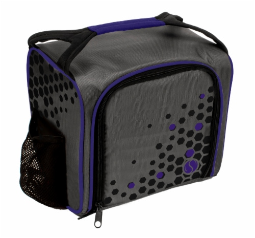 Fit and Fresh Sporty Bag Kit - Gray/Purple Perspective: front