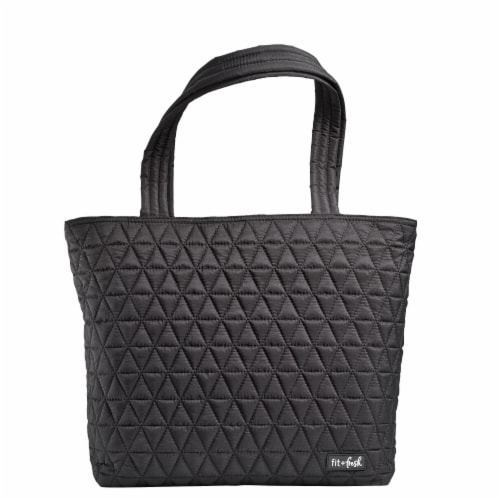 Fit and Fresh Metro Reusable Tote - Black Perspective: front