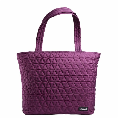 Fit and Fresh Metro reusable Tote - Plum Perspective: front