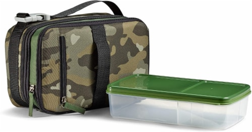 Fit and Fresh Expandable Bento Lunch Kit - Classic Camo Perspective: front