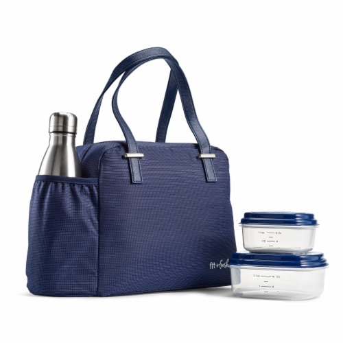 Fit and Fresh Professional Laketown Lunch Kit - Navy Perspective: front