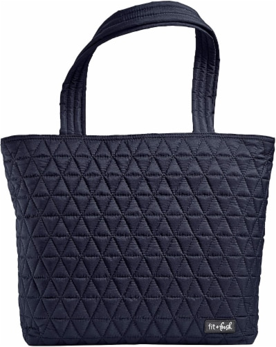 Fit and Fresh Metro Reusable Tote - Navy Perspective: front