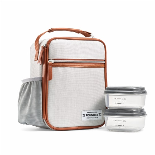 Fit and Fresh Thayer Lunch Kit - Steel Perspective: front
