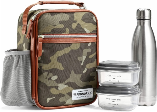 Fit and Fresh Thayer Lunch Kit - Olive Camo Perspective: front