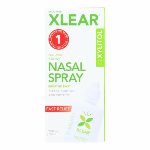 Xlear Fast Relief Nasal Spray Perspective: front