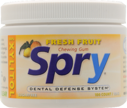 Spry Fresh Fruit Gum Perspective: front