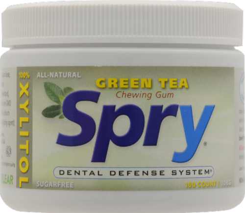 Spry Green Tea Gum Perspective: front