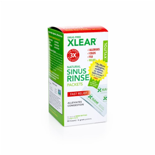 Xlear Natural Sinus Rinse Packets Perspective: front