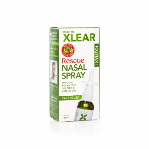 Xlear Rescue Nasal Spray Perspective: front