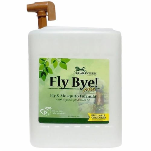 Guaranteed Horse Products 3458 2.5 gal Fly Bye Plus Fly & Mosquito Spray with Refill Tap Perspective: front